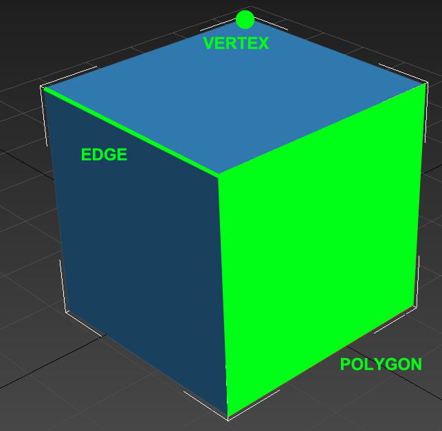 vertex, edge, polygon 3ds max