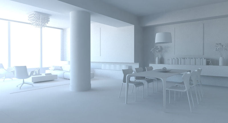 render con Indirect illumination Mental Ray