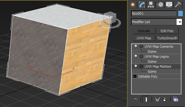 multi sub object map channel 3ds Max