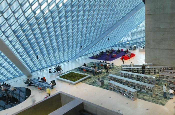 seattle library interno